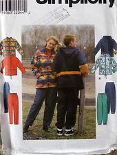 Windbreaker pattern fleece pullon pants Cardigan XS S M