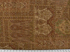 Drapery Upholstery Fabric Patchwork-look Railroaded Grecian Floral - Ginger
