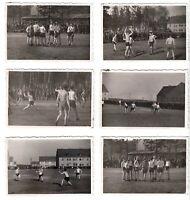 2.Weltkrieg Dt.Soldaten b.Handball Spiel,Soldiers,6 Photos (6,0x8,7cm) WW2~1940