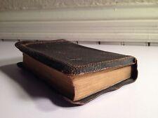 Antique Black Leather Bible Book USA Possible German Language