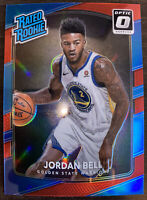 2017-18 Donruss Optic Jordan Bell Rated Rookie Red Prizm #67/99 GS Warriors!