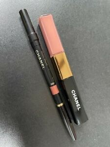CHANEL LE ROUGE DUO ULTRA WEAR LIQUID LIPSTICK COLOUR GLOSS £33 397 MERRY ROSE