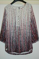 BNWT Ladies M&S - TUNIC BLOUSE SHIRT Top Size 12 Summer Ivory Purple Green Pink