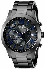 GUESS Mens U0668G2 Grey Stainless Steel Chronograph Watch 2DAY [NO-VAT]