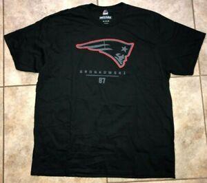 Mens Majestic NFL New England Patriots Gronkowski #87 Football Shirt Sz 2XL