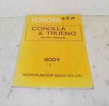 TOYOTA COROLLA & TRUENO REPAIR MANUAL BODY 1974