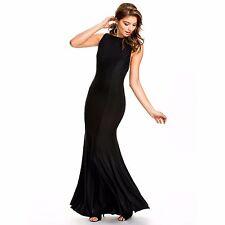 Suzanjas schwarzes Mermaid- Abendkleid Größe L