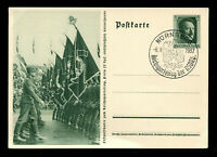 1937 Germany 3rd Reich Real Picture Postcard Cover Leader Rally Nuremberg RPPC