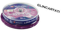 10 DVD +R VERBATIM 100 % 8X DL DUAL DOUBLE LAYER XboX 360