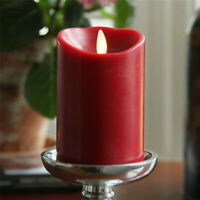 Luminara Moving Wick Pillar Led Candle Lights Battery Operated with Remote 5""