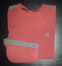 1316c M Solid Burnt Orange NORTH FACE L/S Sweatshirt Pullover Jacket!