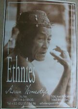 Ethnies Asian Homestyle Elderly Man Smoking Promo Ad Card (Blank On Back)
