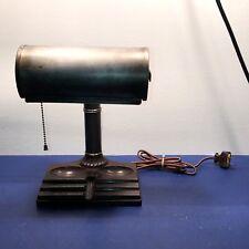 Antique Bakelite desk lamp with steampunk steel shade Wired Fixture 18C