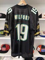 Reebok NFL Jacksonville Jaguars Ernest Wilford Jersey Sz L Black Blank Football