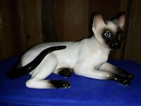 Vintage Sealpoint Siamese cat figurine
