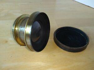Antique Brass Camera Lens Hermagis Paris France