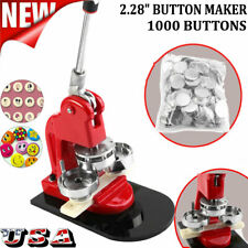 "2.28"" 58mm Button Maker Machine Badge Punch Press 1000 Parts Circle Cutter Tool"