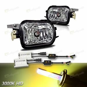 FOR MERCEDES-BENZ C-CLASS W203 CLEAR LENS ASSEMBLY FOG LIGHT LAMP+3000K 55W HID
