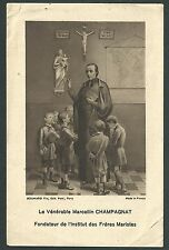 Estampa antigua de Marcellino Champagnat andachtsbild santino holy card santini