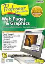 Professor Teaches Wie Zu Erstellen Web Seiten & Grafik, 12 Tutorial Training Set