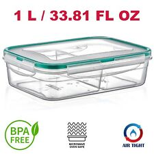 Microwave Safe Lunch Box Airtight, Watertight Smelltight BPA FREE Rectangle 1L