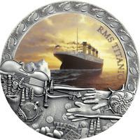 2020 Niue $5 Grand Shipwrecks of History Titanic 2 oz Silver Coin - Mintage 500