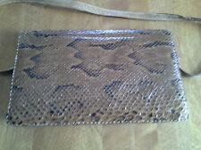 Vintage Snake Skin Envelope Clutch Shoulder Bag