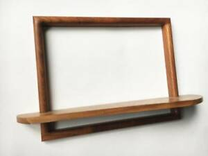 unique hand crafted accent Wood work Wall shelf LIVE EDGE unique Hand made