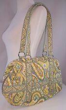 Vera Bradley Large Zip-Around Shoulder Handbag/Purse - Lemon Parfait - Retired