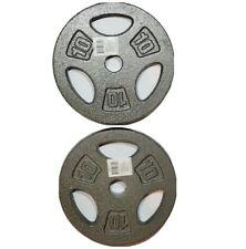 "10 lbs x 2 Cap Barbell 20 lb 1"" Standard Weight Plates Pair Cast Iron NEW"