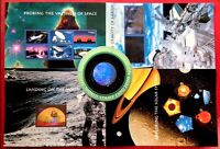 US Space Achievement & Exploration SC#3409 - 3413 Complete Set 5 Sheets CV: $135
