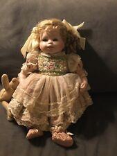 "1996 Mundia Fine Porcelain Doll Christine&Cecile Mundia Limited Collection 18""T"