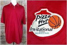 Pizza Hut Invitational Basketball Tournament Polo Shirt-Nike Golf Drifit Xxl Nwt