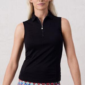 NWT Daily Sports macy Black Sleeveless 1/4 zip Golf Shirt Ladies XS S L XL XXL