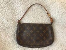 Authentic Louis Vuitton pochette accessories bag purse clutch monogram