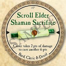 True Dungeon Token - Scroll Elder Shaman Sacrifice