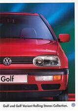VW GOLF ROLLING STONES Spécial Modèle III 3 Prospectus 1995 ++++++++++++++++++++++++