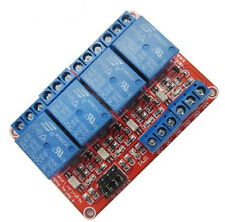 5V 4 Channel Relay Module with Optocoupler Isolation and High/Low Level Trigger