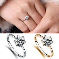 Charm Lovely Simulated Diamond Wedding Rings Luxury Crystal Finger Rings FT