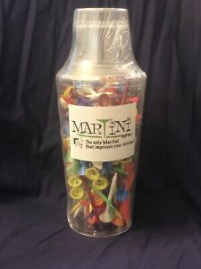 """NEW AUTHENTIC Martini Golf Shaker with 150 Martini Golf Tees 3 1/4"""""""
