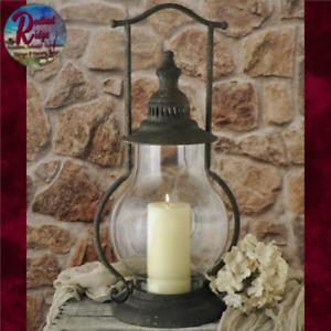 "Primitive Vintage STEEPLE LANTERN Primitive Rustic Colonial Candle Holder 21"""
