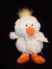 "9"" RUSS PLUSH ""CHICKPEA"" PASTEL  YELLOW  CHICK #259 PASTEL BOW on NECK ADORABLE!"