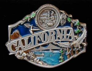 CALIFORNIA STATE BELT BUCKLE BUCKLES NICE COLORS NEW!