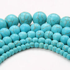 Wholesale Natural Gemstone Turquoise Round Spacer Loose Beads 4MM 6MM 8MM 10MM