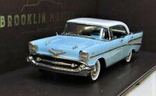 BROOKLIN MODELS BRK221: 1957 CHEVROLET BEL-AIR 4-DOOR HARDTOP, IVORY/BLUE, BNIB.