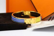 Hermes bleu émail Brides De Gala bracelet jonc + Cadeau Réception-peu utilisé