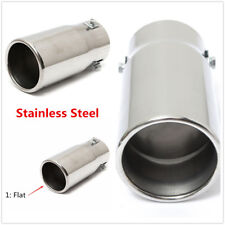 Universal 58mm Chrome Stainless steel Car Round Exhaust Pipe Tail Muffler Tip