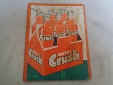 Rare 1955 Orange Crush King Size Bottle Sign Salesman Sample Advertising Folder