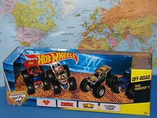 HOT WHEELS MONSTER JAM TOUR FAVORITES #2 MAX-D ZOMBIE SUPERMAN DIGGER 4 PACK NEW