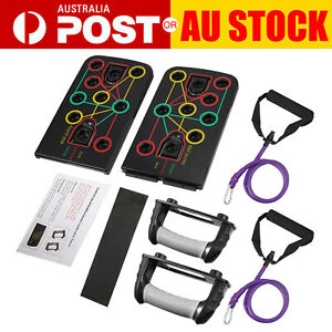 Push Up Rack Board with Resistance Band Fitness Push up Stands Gym Exercise NEW